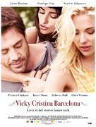 Vicky Cristina Barcelona - Danish Movie Poster (xs thumbnail)