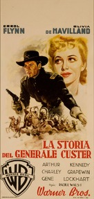 They Died with Their Boots On - Italian Movie Poster (xs thumbnail)