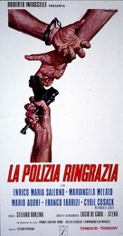La polizia ringrazia - Italian Movie Poster (xs thumbnail)