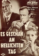 Es geschah am hellichten Tag - German Movie Poster (xs thumbnail)