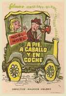 À pied, à cheval et en voiture - Spanish Movie Poster (xs thumbnail)