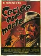 Cècile est morte! - French Movie Poster (xs thumbnail)