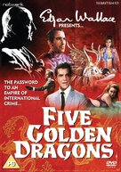 Five Golden Dragons - British DVD cover (xs thumbnail)