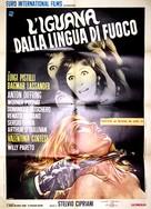Iguana dalla lingua di fuoco, L' - Italian Movie Poster (xs thumbnail)