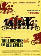 Les triplettes de Belleville - Danish Movie Poster (xs thumbnail)