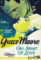 One Night of Love - Swedish Movie Poster (xs thumbnail)