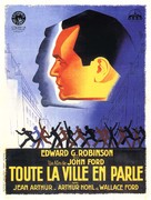 The Whole Town's Talking - French Movie Poster (xs thumbnail)