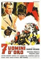 Sette uomini d'oro - Italian Movie Poster (xs thumbnail)
