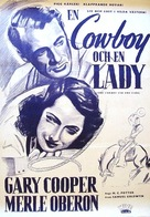 The Cowboy and the Lady - Swedish Movie Poster (xs thumbnail)
