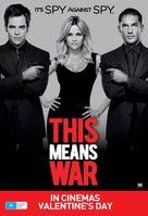 This Means War - Australian Movie Poster (xs thumbnail)