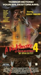 A Nightmare on Elm Street 4: The Dream Master - VHS cover (xs thumbnail)