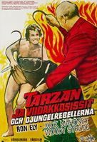 Tarzan's Deadly Silence - Swedish Movie Poster (xs thumbnail)