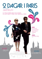 2 Days in Paris - Swedish Movie Poster (xs thumbnail)