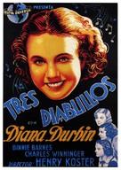 Three Smart Girls - Spanish Movie Poster (xs thumbnail)