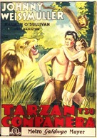 Tarzan and His Mate - Spanish Movie Poster (xs thumbnail)