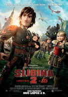How to Train Your Dragon 2 - Lithuanian Movie Poster (xs thumbnail)
