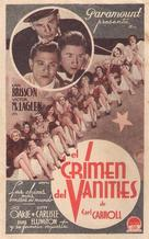 Murder at the Vanities - Spanish Movie Poster (xs thumbnail)