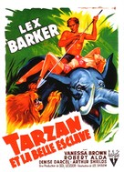 Tarzan and the Slave Girl - French Movie Poster (xs thumbnail)
