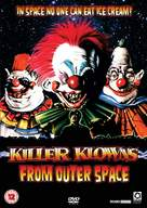 Killer Klowns from Outer Space - British DVD movie cover (xs thumbnail)