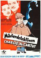 Charlie McCarthy, Detective - Swedish Movie Poster (xs thumbnail)