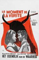 Il momento della verità - Belgian Movie Poster (xs thumbnail)