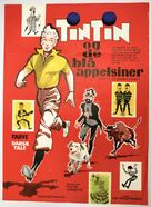 Tintin et les oranges bleues - Danish Movie Poster (xs thumbnail)