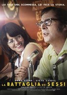 Battle of the Sexes - Italian Movie Poster (xs thumbnail)
