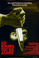 He Knows You're Alone - British Movie Poster (xs thumbnail)