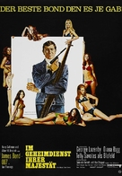 On Her Majesty's Secret Service - German Movie Poster (xs thumbnail)