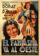 The Ghost Goes West - Spanish Movie Poster (xs thumbnail)