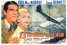 Thirteen Hours by Air - French Movie Poster (xs thumbnail)