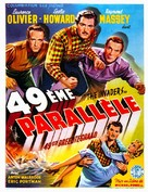 49th Parallel - French Movie Poster (xs thumbnail)