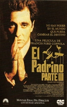 The Godfather: Part III - Spanish VHS movie cover (xs thumbnail)