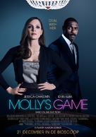Molly's Game - Dutch Movie Poster (xs thumbnail)