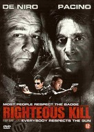 Righteous Kill - Dutch DVD movie cover (xs thumbnail)