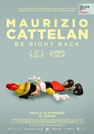 Maurizio Cattelan: Be Right Back - Italian Movie Poster (xs thumbnail)