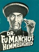 The Face of Fu Manchu - Danish Movie Poster (xs thumbnail)