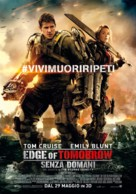 Live Die Repeat: Edge of Tomorrow - Italian Movie Poster (xs thumbnail)