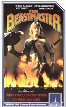 The Beastmaster - Finnish VHS movie cover (xs thumbnail)