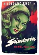 Sünderin, Die - German Movie Poster (xs thumbnail)