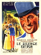 Le silence est d'or, Le - French Movie Poster (xs thumbnail)