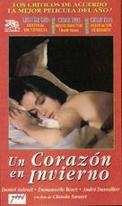 Un coeur en hiver - Argentinian VHS cover (xs thumbnail)