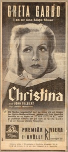 Queen Christina - Swedish poster (xs thumbnail)