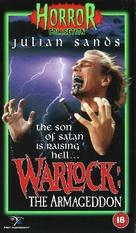 Warlock: The Armageddon - British VHS movie cover (xs thumbnail)