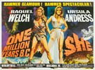 One Million Years B.C. - British Movie Poster (xs thumbnail)