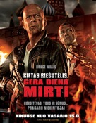 A Good Day to Die Hard - Lithuanian Movie Poster (xs thumbnail)