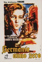 Germania anno zero - Italian Movie Poster (xs thumbnail)