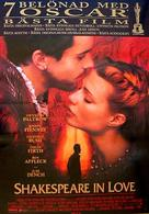 Shakespeare In Love - Swedish Movie Poster (xs thumbnail)