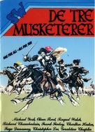 The Three Musketeers - Danish Movie Cover (xs thumbnail)