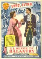 The Master of Ballantrae - Spanish Movie Poster (xs thumbnail)
